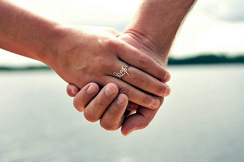 holding hands photo
